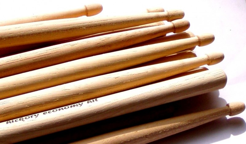 Imperfect drumsticks - hornbeam